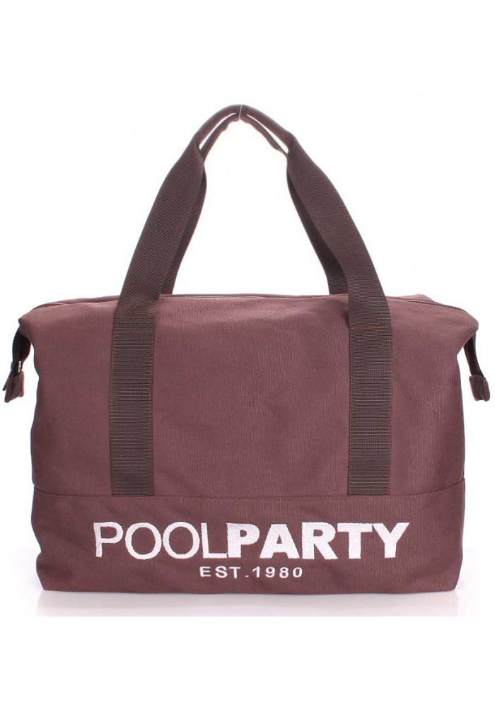 Сумка тканевая молодежная Poolparty Pool 12 Brown