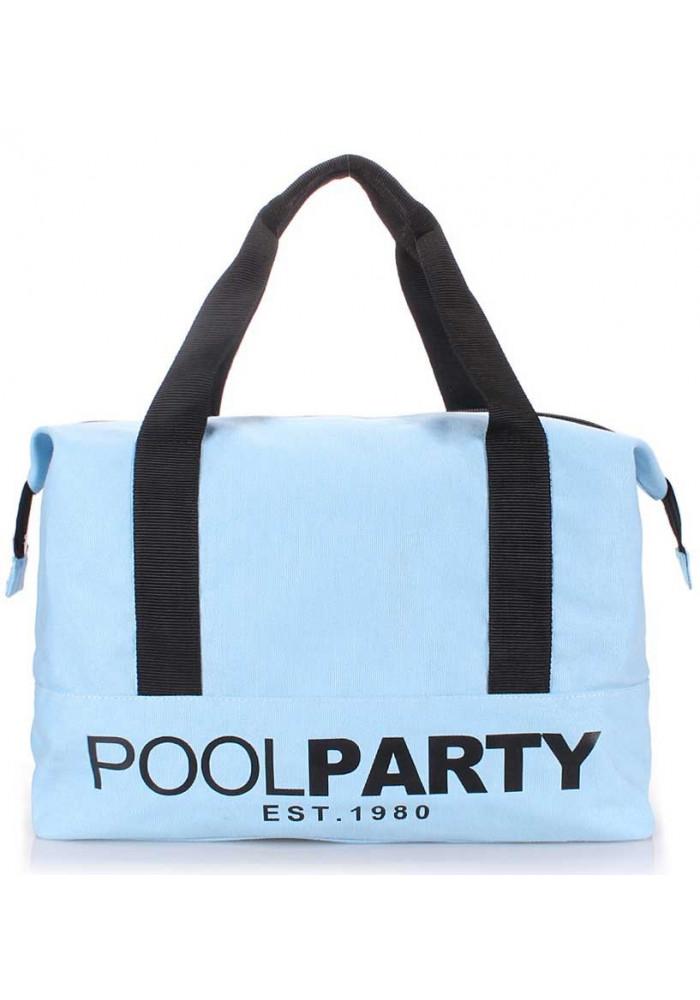 Сумка тканевая молодежная Poolparty Pool 12 Lightblue