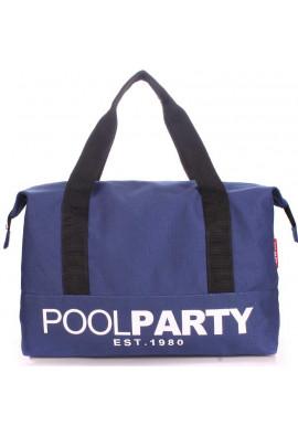 Фото Сумка тканевая молодежная Poolparty Pool 12 Darkblue