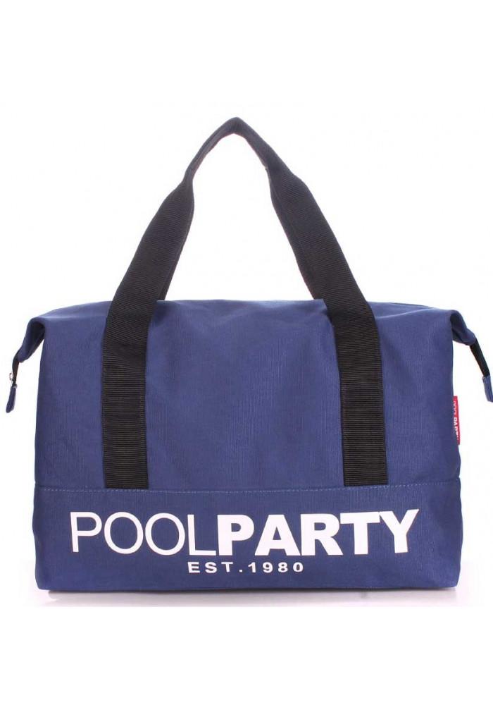 Сумка тканевая молодежная Poolparty Pool 12 Darkblue