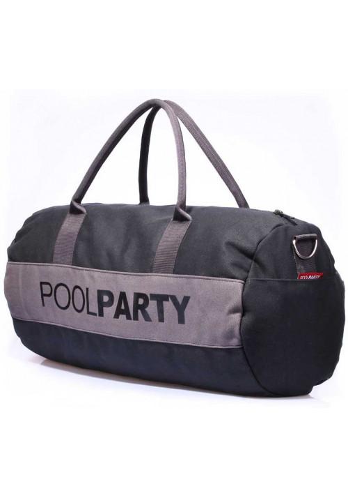 Спортивная сумка Poolparty Gymbag Black Grey