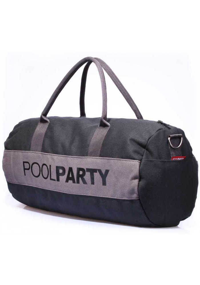 Спортивная сумка Poolparty Gymbag Black Grey