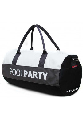 Фото Спортивная сумка Poolparty Gymbag Black Grey