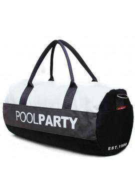 Фото Спортивная сумка Poolparty Gymbag Black Grey