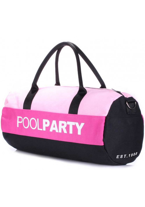 Спортивная сумка Poolparty Gymbag Rose Pink Black