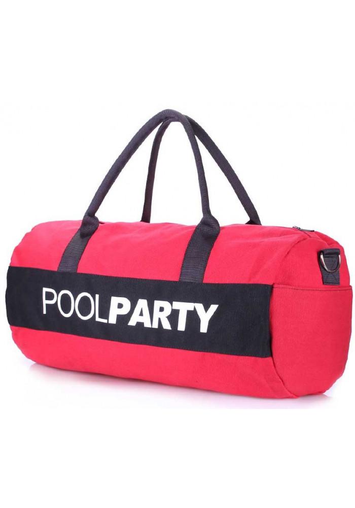 Спортивная сумка Poolparty Gymbag Red Black