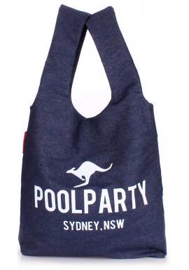 Фото Стильная сумка женская из ткани Poolparty Pool 20 Jeans