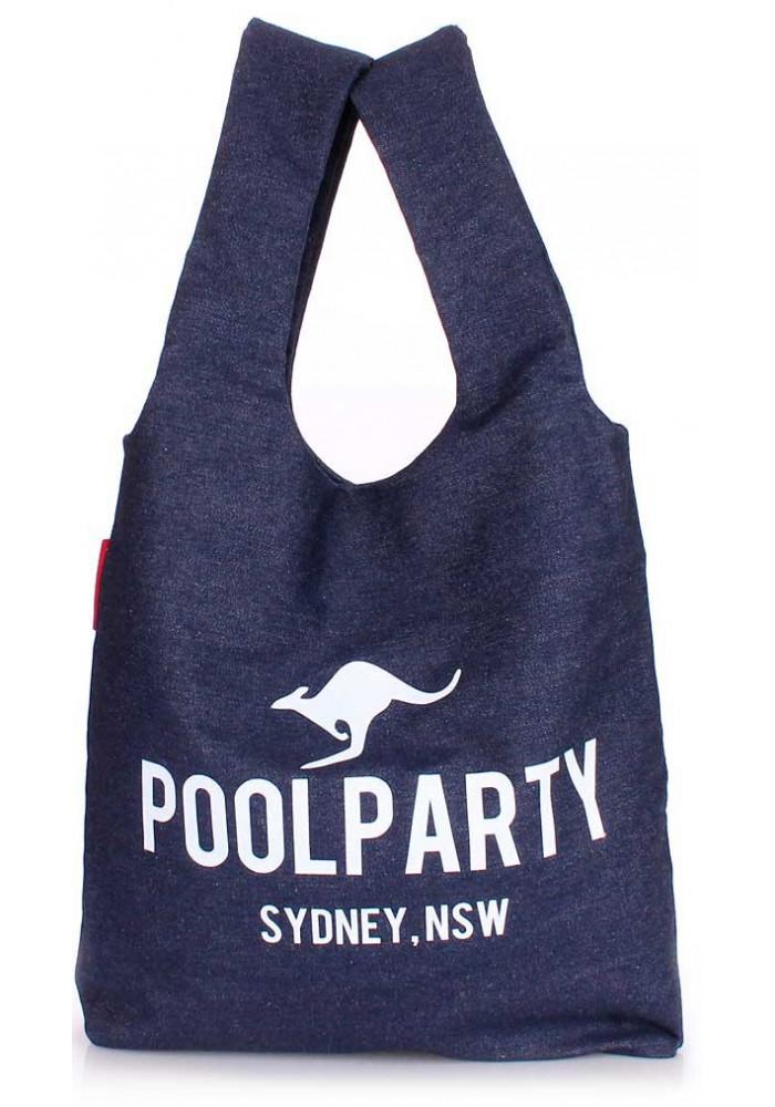 Стильная сумка женская из ткани Poolparty Pool 20 Jeans