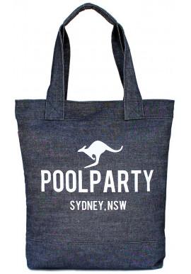 Фото Джинсовая сумка женская из ткани Poolparty Pool 1 Jeans
