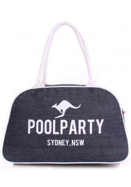 Фото Джинсовая сумка женская из ткани Poolparty Pool 16 Jeans