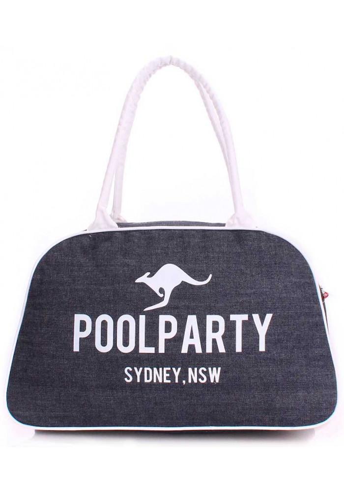Джинсовая сумка женская из ткани Poolparty Pool 16 Jeans