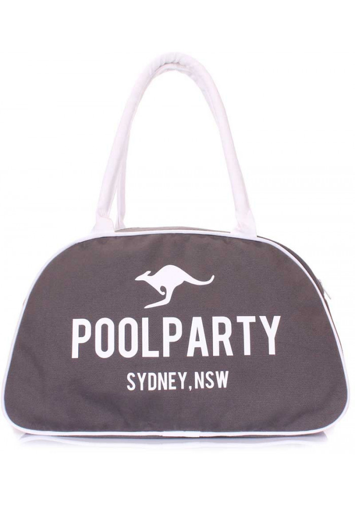 Сумка женская из ткани Poolparty Pool 16 White Grey