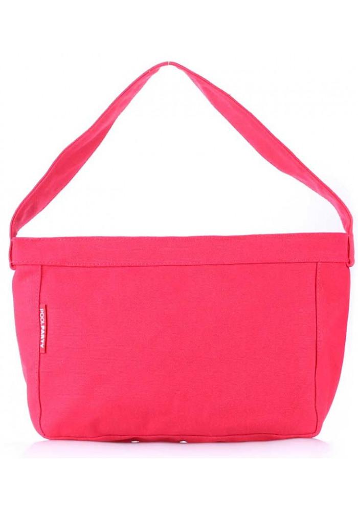 Джинсовая сумка женская из ткани Poolparty Pool 8 Red