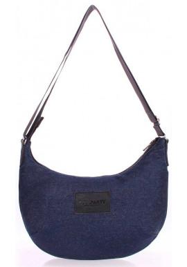 Фото Джинсовая сумка женская из ткани Poolparty Pool 92 Black Jeans