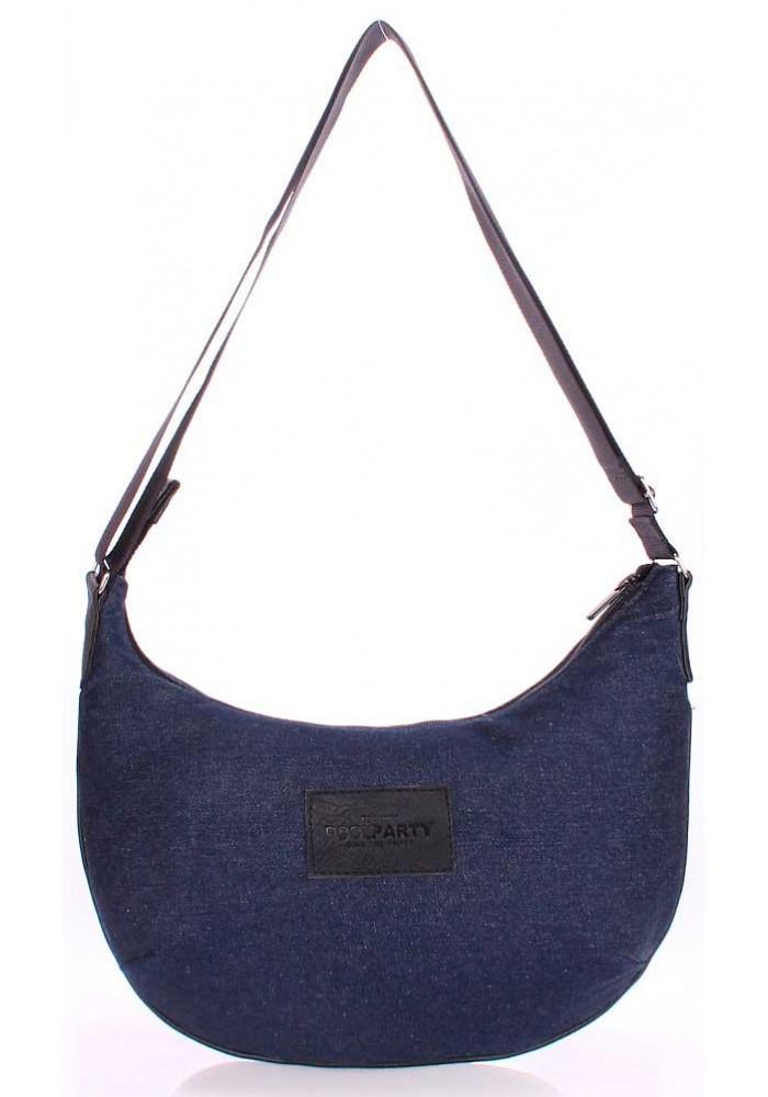 Джинсовая сумка женская из ткани Poolparty Pool 92 Black Jeans