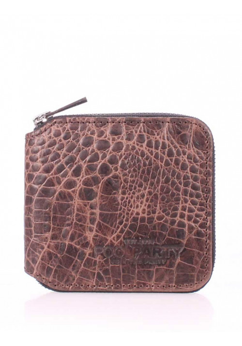 Кошелек женский Poolparty Miniwallet Croco Brown