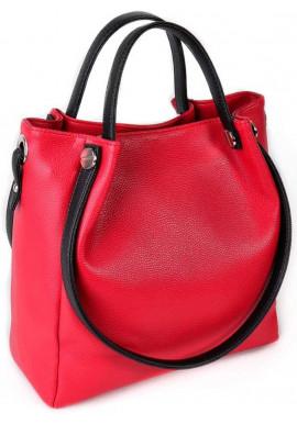 Фото Женская сумка с двумя ручками Камелия красная М130-68-47