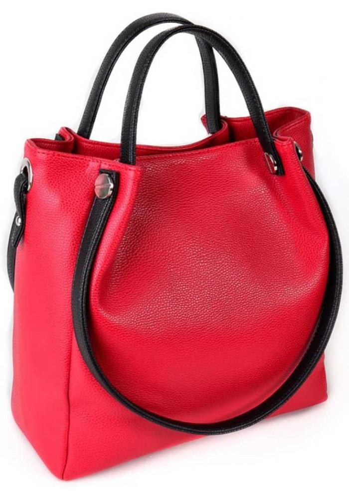 Женская сумка с двумя ручками Камелия красная