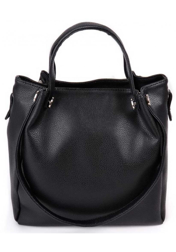 Женская сумка с двумя ручками Камелия черная
