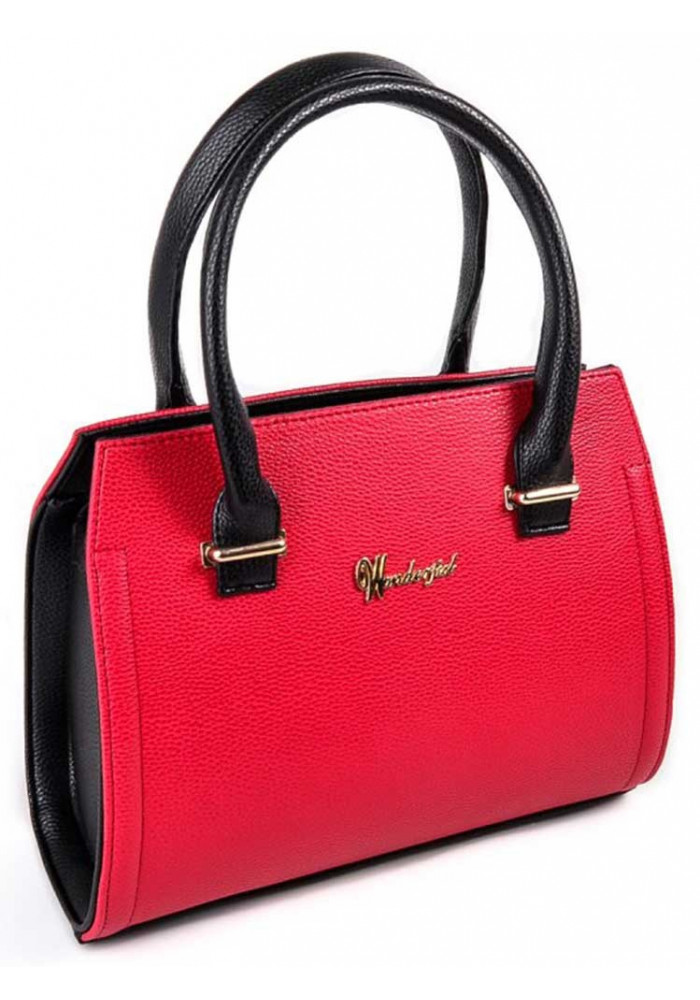 Качественная сумка женская Камелия красная