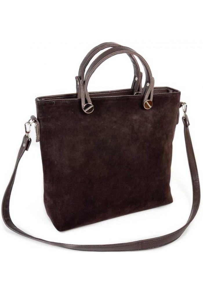 Брендовая женская сумка замшевая Камелия
