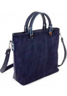 Фото Женская сумка замшевая Камелия синяя М61-замш-39