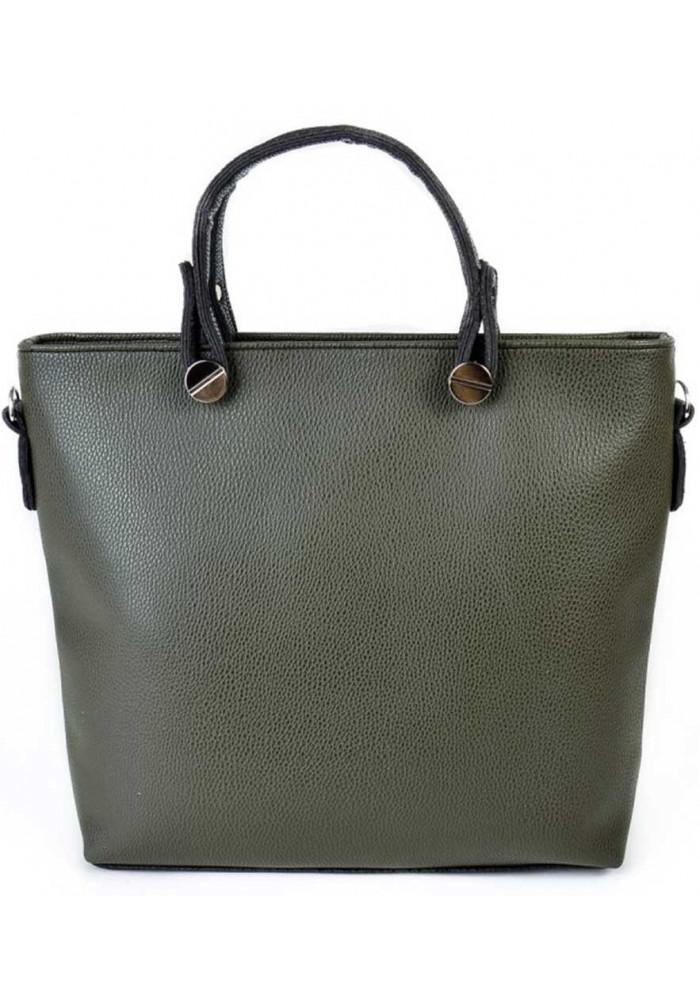 Брендовая женская сумка Камелия зеленая