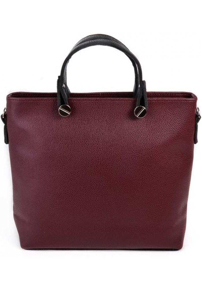 Брендовая женская сумка Камелия бордовая