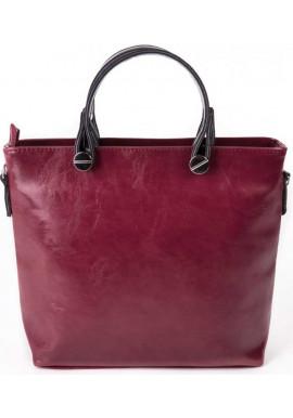 Фото Женская сумка Камелия бордовая глянцевая М61-52-27