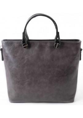 Фото Женская сумка Камелия серая глянцевая М61-50