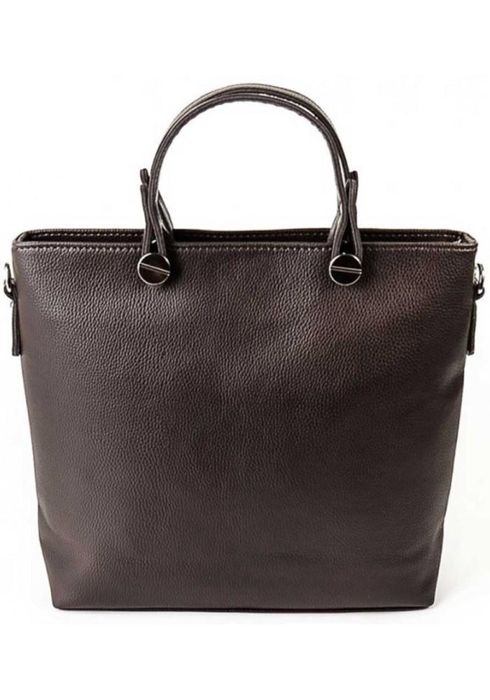 Брендовая женская сумка Камелия темно-коричневая