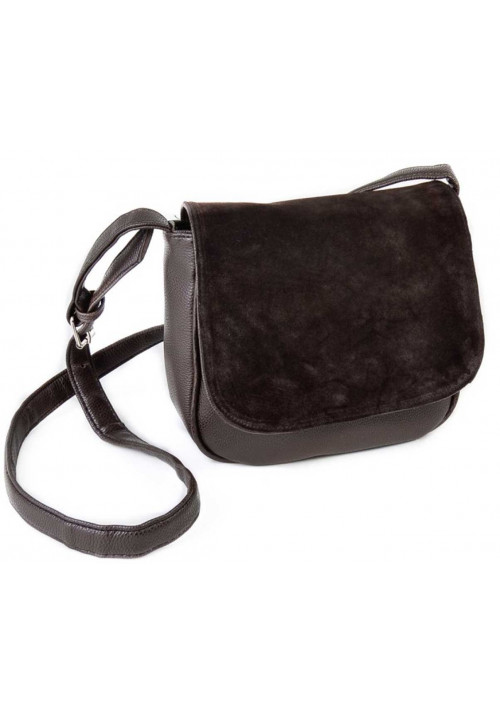 Замшевая сумка клатч женская Камелия коричневая