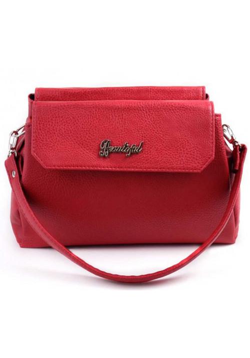 Мини сумочка клатч женский Камелия красный