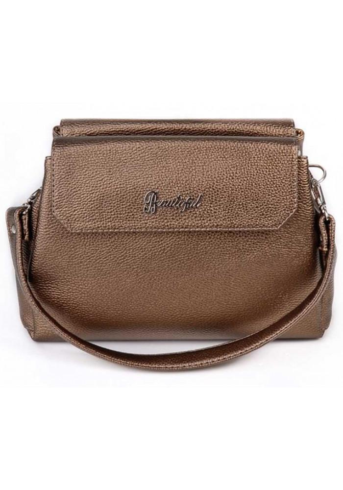 Фото Мини сумочка клатч женский Камелия бронзовый М126-70