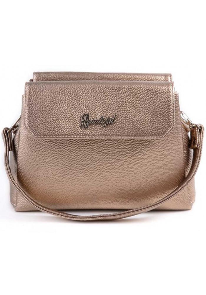 Мини сумочка клатч женский Камелия золотой
