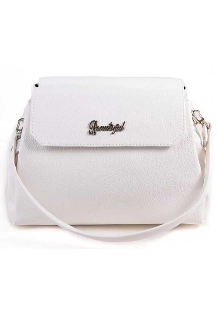 Мини сумочка клатч женский Камелия белый