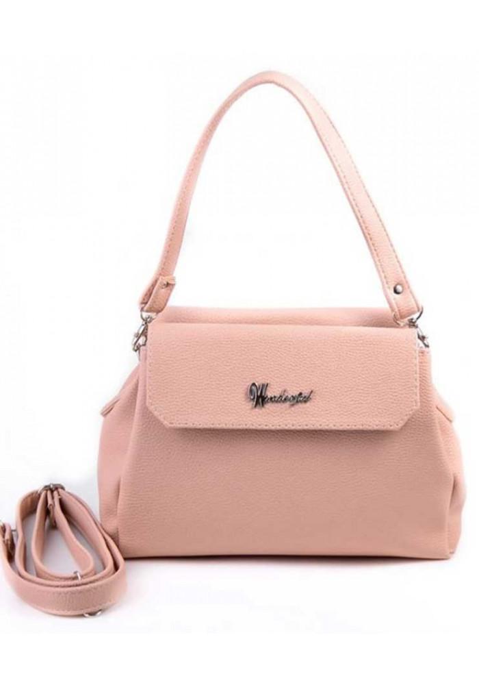 Фото Мини сумочка клатч женский Камелия цвета пудры М126-65