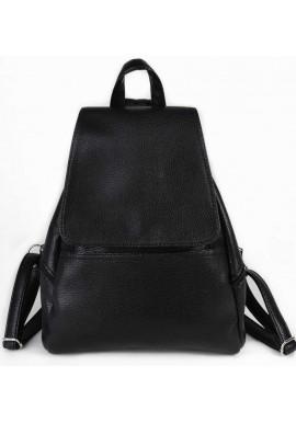 Фото Женский рюкзак с клапаном Камелия черный М104-47