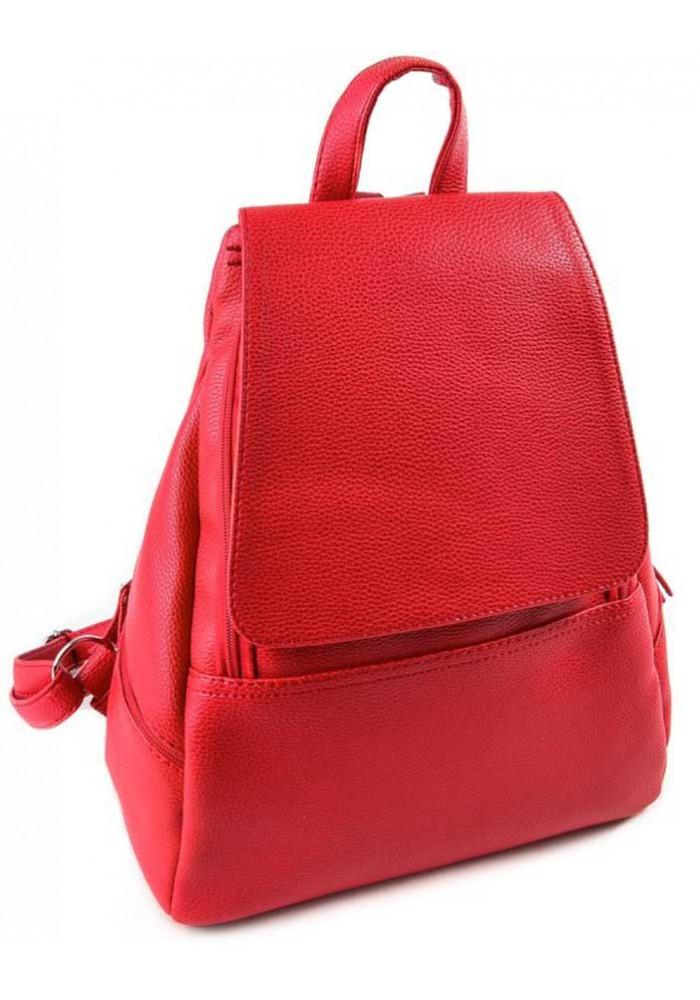 Женский рюкзак с клапаном Камелия красный