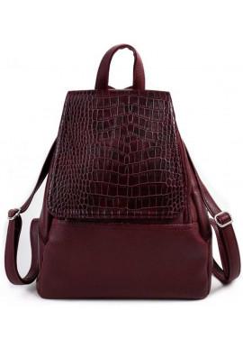 Фото Женский рюкзак с клапаном Камелия бордовый