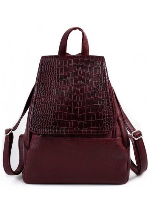 Женский рюкзак с клапаном Камелия бордовый