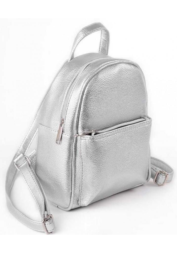5435a67da8d5 ... Маленький женский рюкзак Камелия серебряный, фото №2 - интернет магазин  stunner.com.
