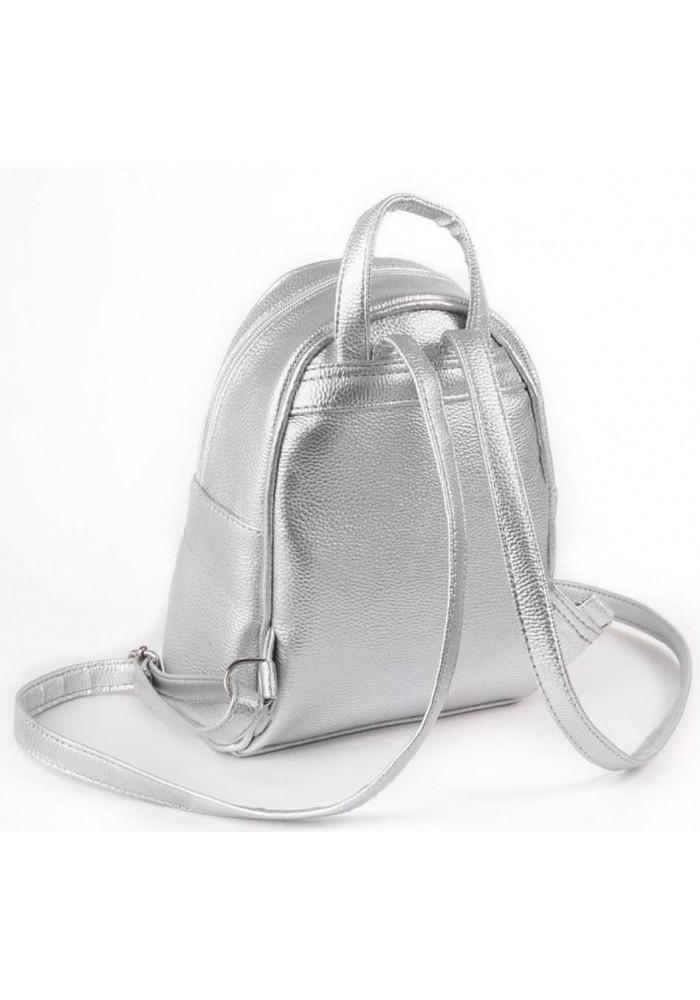 1f13861ca275 Маленький женский рюкзак Камелия серебряный, фото №3 - интернет магазин  stunner.com.