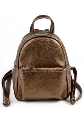 Фото Маленький женский рюкзак Камелия бронзовый