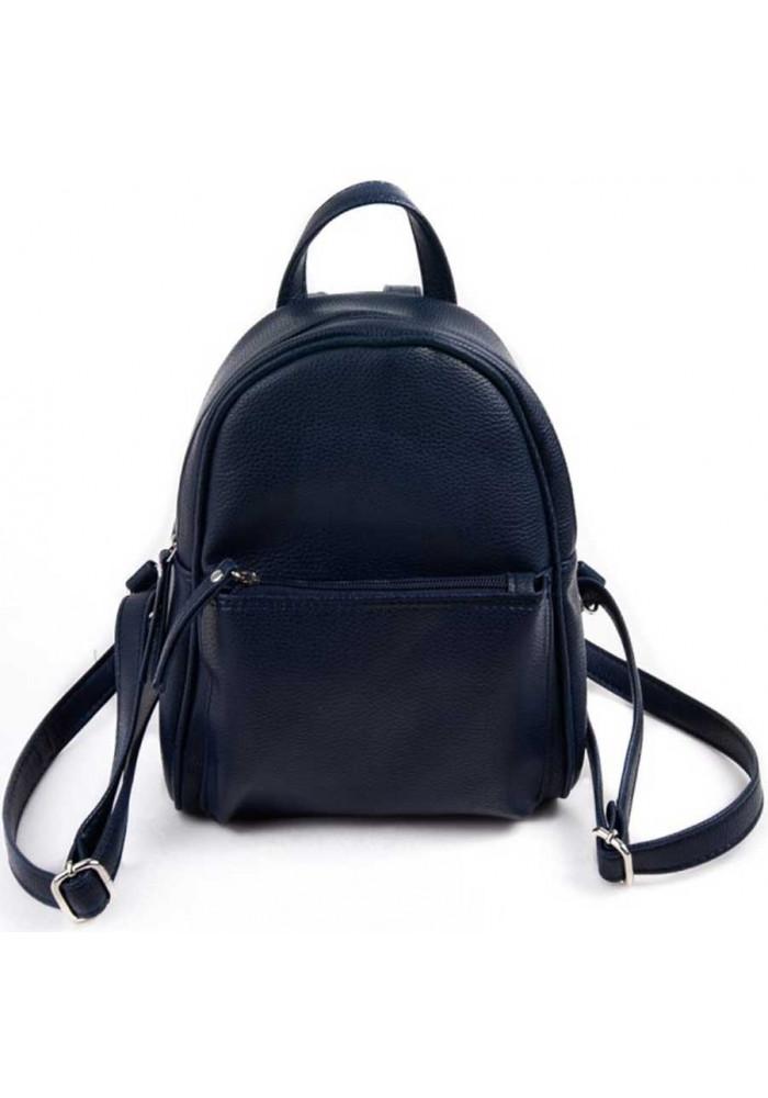Маленький женский рюкзак Камелия синий