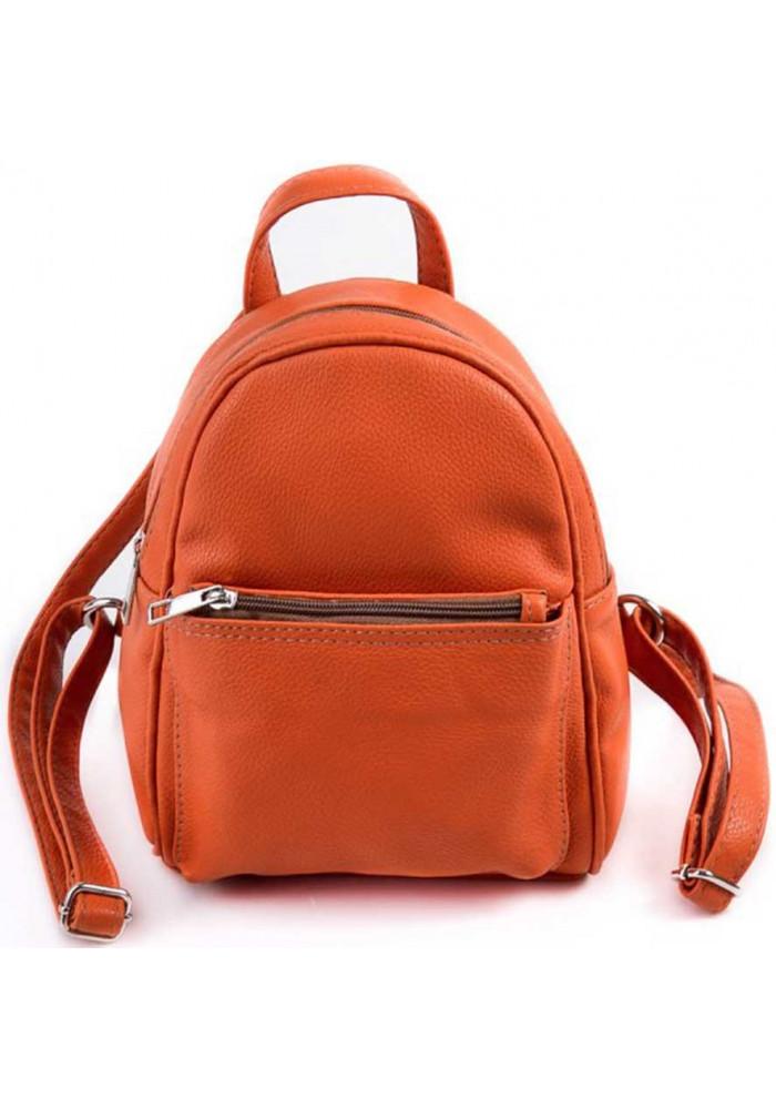 Маленький женский рюкзак Камелия оранжевый