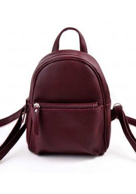 Фото Маленький женский рюкзак Камелия бордовый