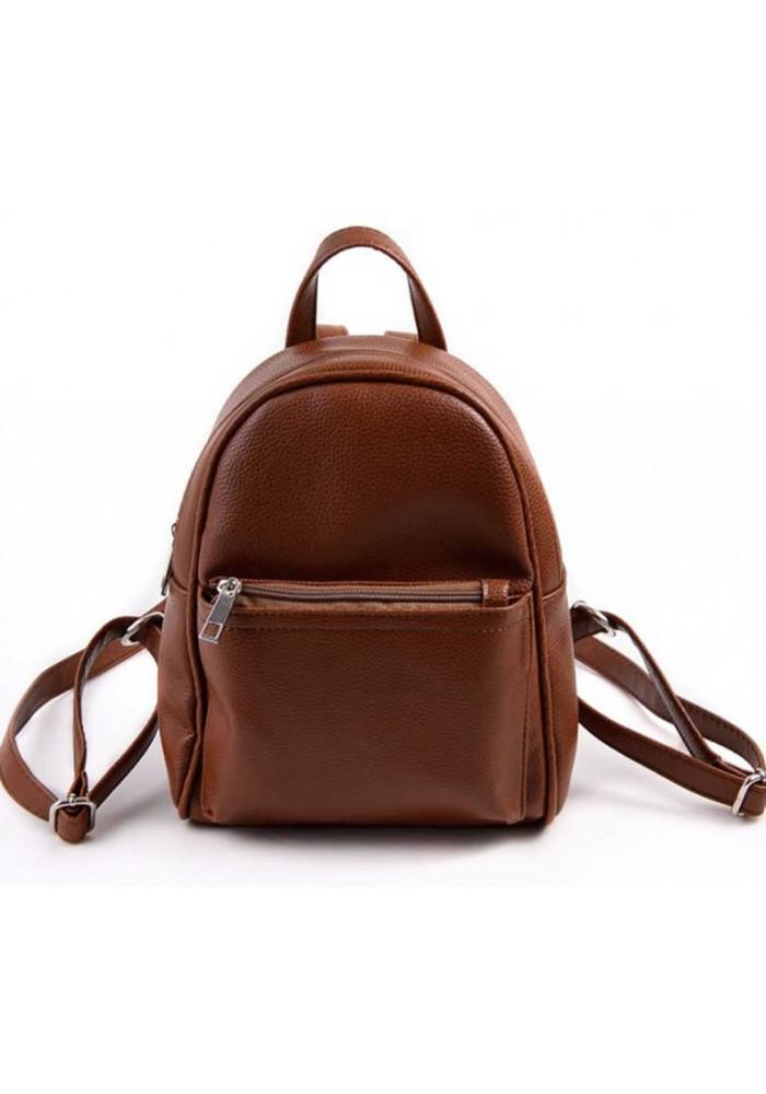 Маленький женский рюкзак Камелия коричневый