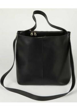 Фото Женская кожаная сумка в сумкеКамелия черная