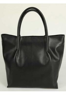 Фото Женская кожаная сумка Камелия черный шопер М72
